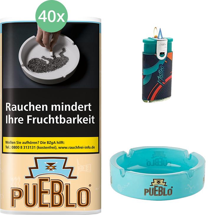 Pueblo Classic 40 x 30g mit Aschenbecher