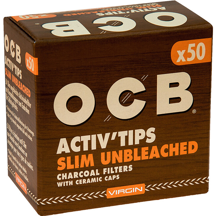 OCB Activ'Tips Slim Unbleached 7 mm 50 Stück