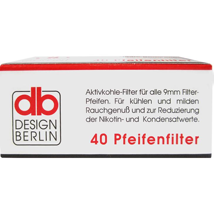 db Design Berlin Aktivkohlefilter 9 mm 40 Stück