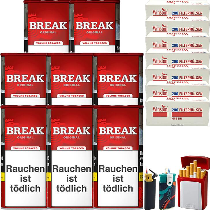 Break Original 8 x 115g mit 1400 King Size Hülsen