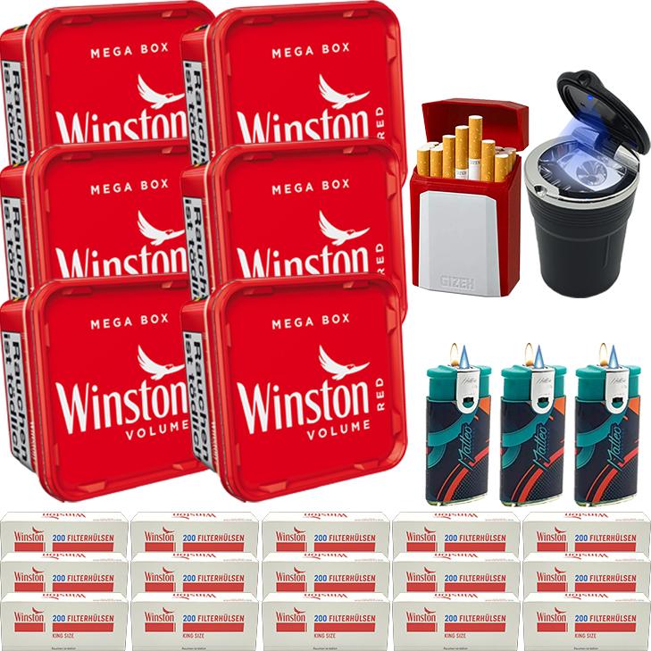 Winston Mega Box 6 x 170g mit 3000 King Size Hülsen