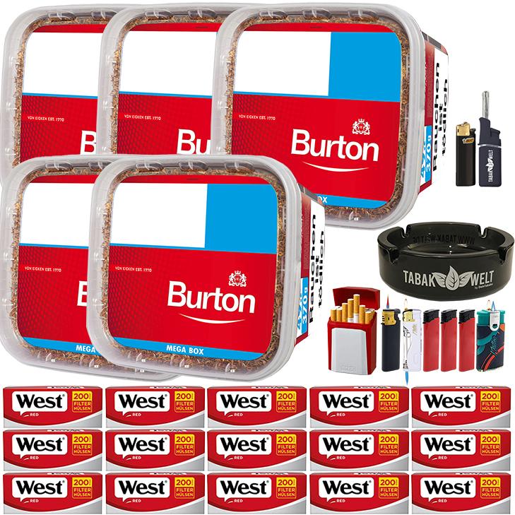 Burton 5 x 350g mit 3000 Red Hülsen
