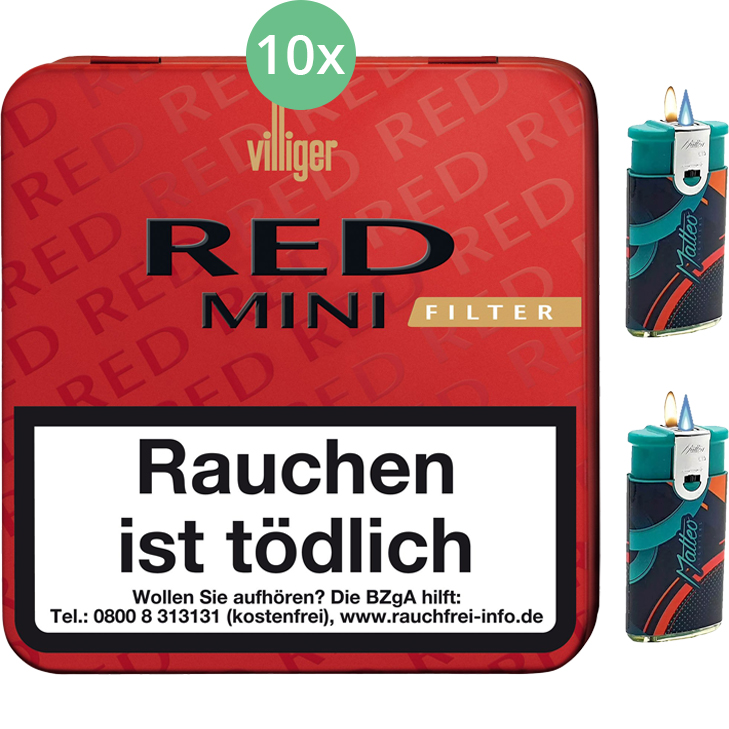 Villiger Red Mini Filter 10 X 20 Stück