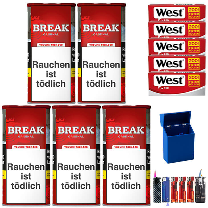 Break Original 5 x 120g mit 1000 Red Hülsen