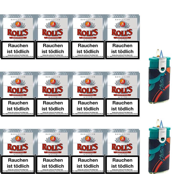 Rolls Exclusive White Zigarillos mit Filter (3 Stangen) 24 x 23 Stück