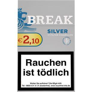 Break Silver Zigarillos mit Filter (2 Stangen) 20 x 17 Stück