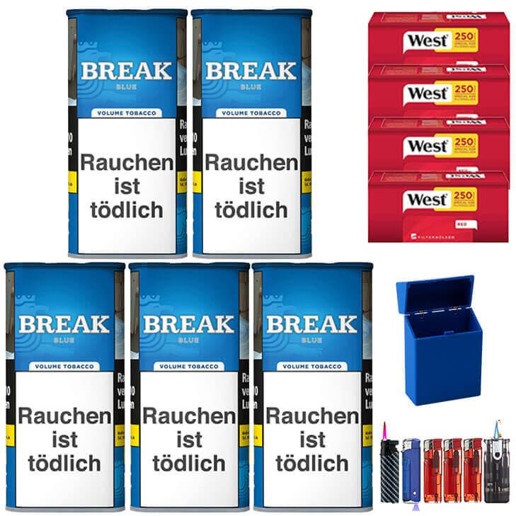 Break Blue / Blau 5 x 120g mit 1000 Hülsen