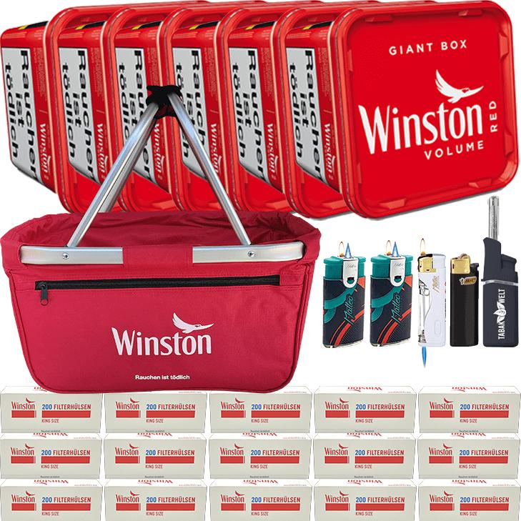 Winston Giant Box 6 x 280g mit 3000 King Size Hülsen