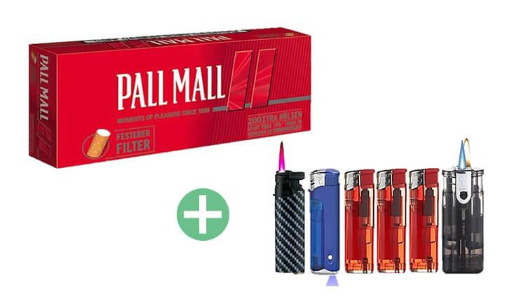 Pall Mall Red Xtra Filterhülsen 25 x 200