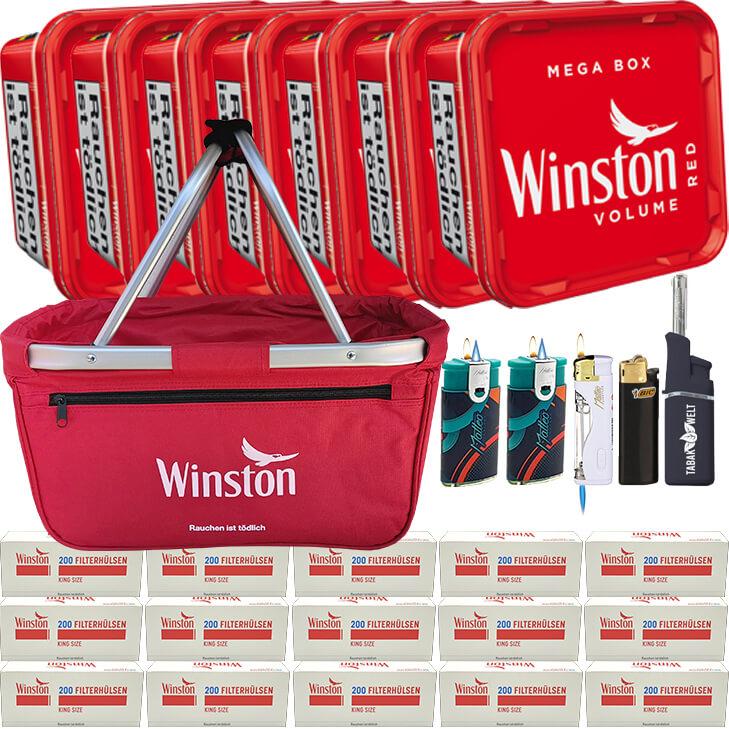 Winston Mega Box 7 x 170g mit 3000 King Size Hülsen