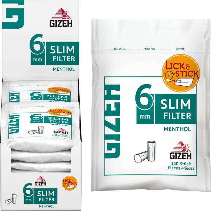 Gizeh Slim Filter Menthol 6mm 10 x 120 Stück
