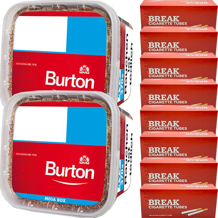 Burton 2 x 350g mit 1400 King Size Hülsen