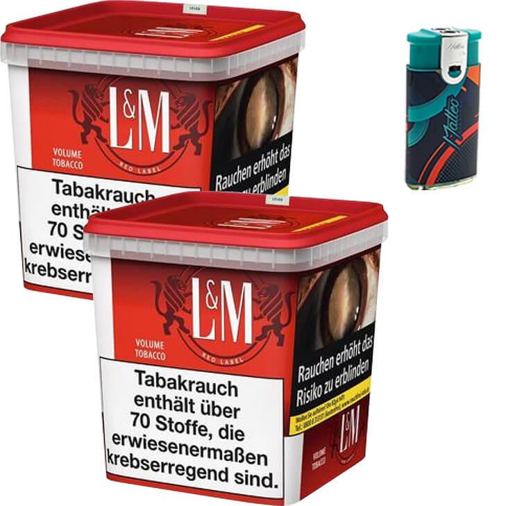 L&M Red Super Box 2 x 280g mit Duo Feuerzeuge mit 2 Flammen