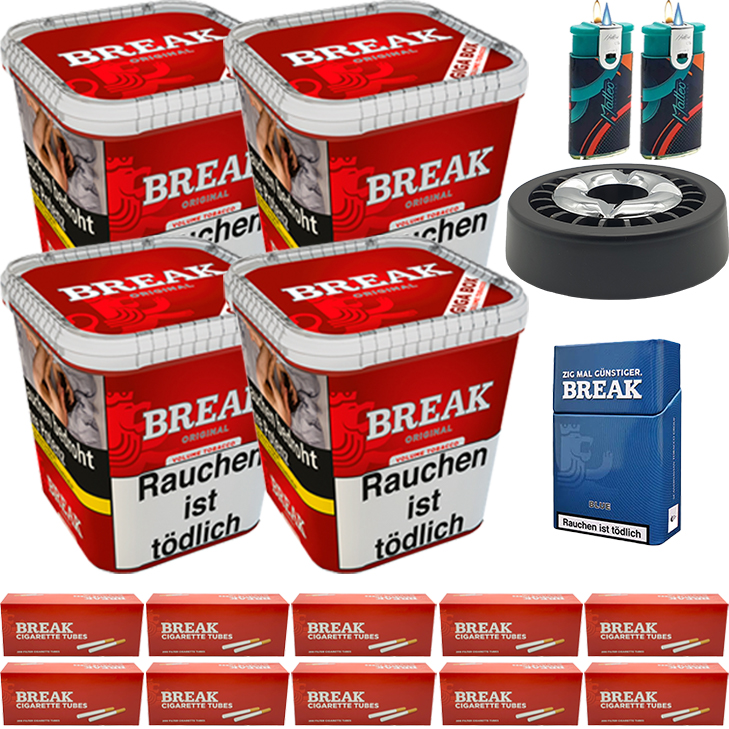 Break Original 4 x 240g mit 2000 King Size Hülsen
