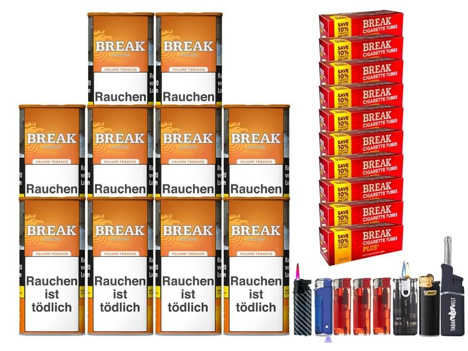Break Orange 10 x 110g Volumentabak 2000 Break Xtra Plus Filterhülsen Uvm.