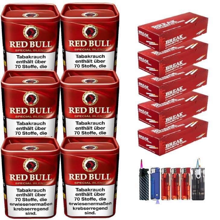 Red Bull Special Blend 6 x 120g Feinschnitt 1000 Filterhülsen Uvm.