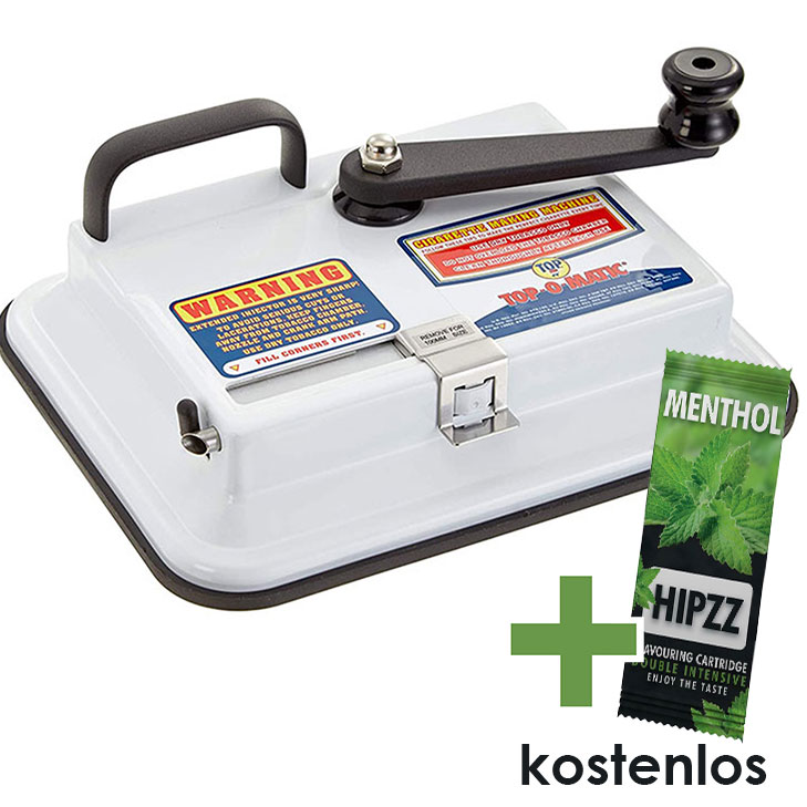 OCB Top-o-Matic Zigarettenstopfmaschine + HIPZZ Menthol