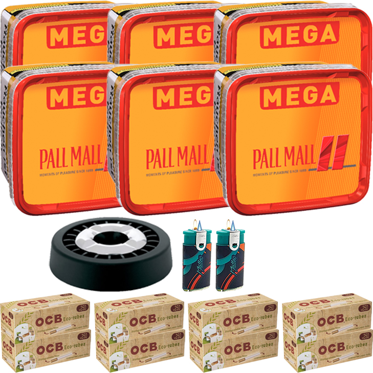 Pall Mall Mega Box 6 x 170g mit 2000 Hülsen