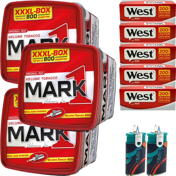 Mark 1 - 3 x 400g mit 1000 Red Hülsen