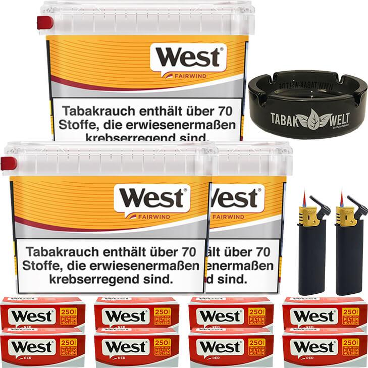 West Yellow Fairwind 3 x 215g mit 2000 Extra Size Hülsen