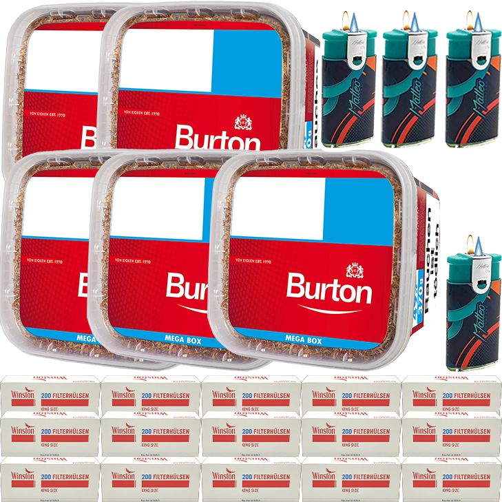 Burton 5 x 350g mit 3000 King SizeHülsen