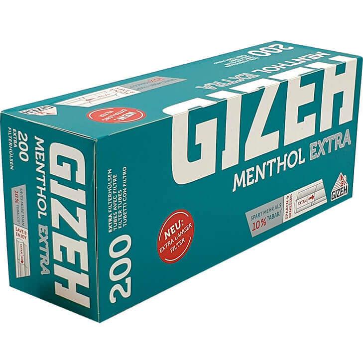 Gizeh Menthol Filterhülsen Extra 200