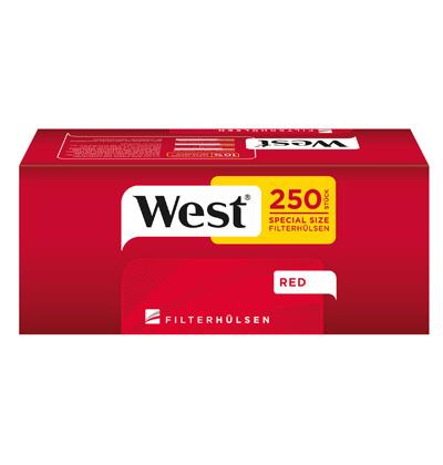 West Red 2 x 280g mit 1000 Extra Size Hülsen