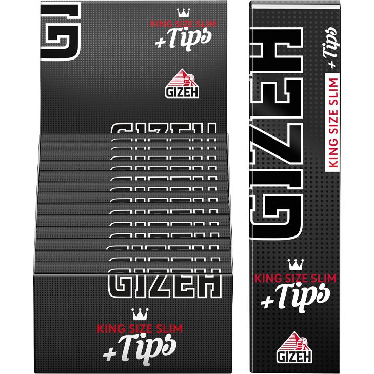 Gizeh Black King Size Slim 26 x 34 Blatt + Tips