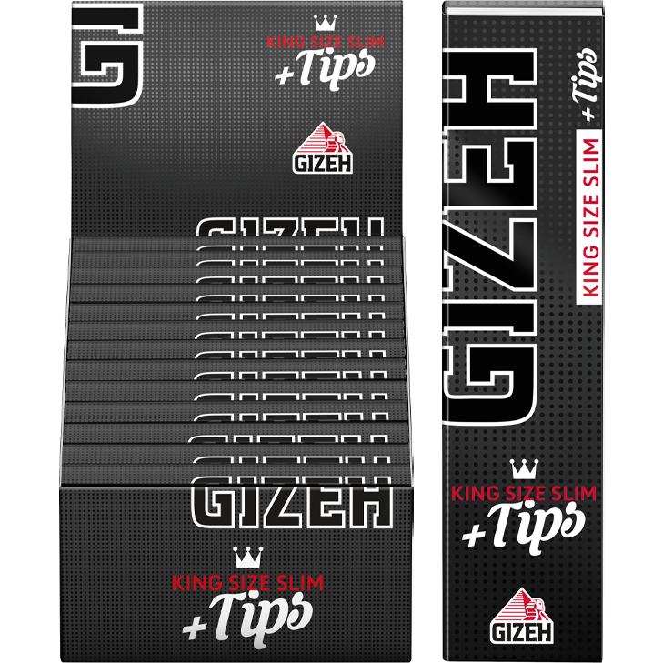Gizeh Black King Size Slim 26 x 34 Blatt + Tips