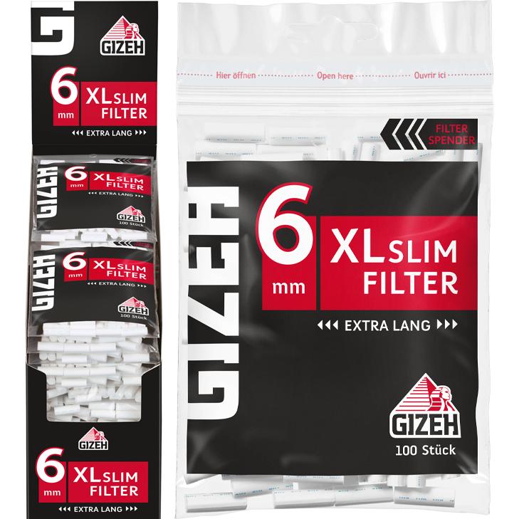 Gizeh Black XL Slim Filter 6 mm 20 x 100 Stück