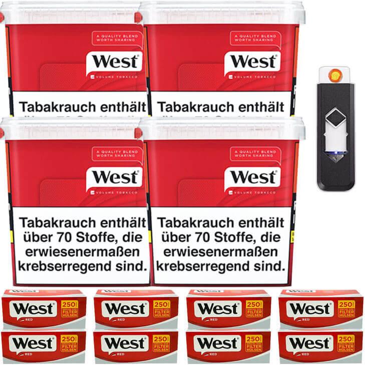 West Red 4 x 280g mit 2000 Extra Size Hülsen