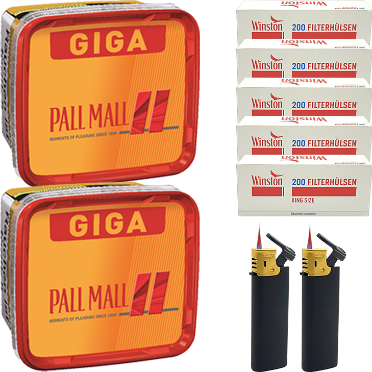 Pall Mall Allround 2 x 260g mit 1000 King Size Hülsen