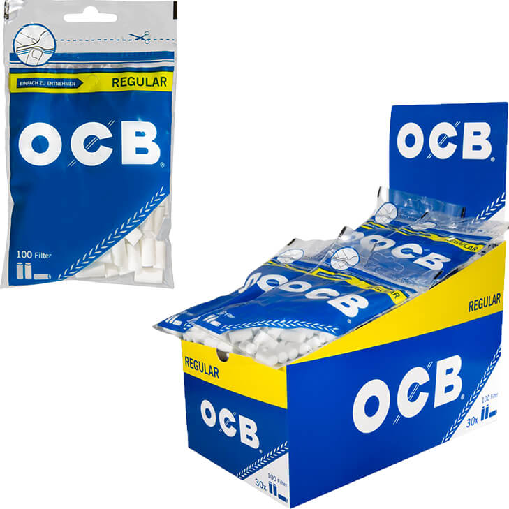 OCB Drehfilter Regular 7,5 mm 30 x 100 Stück