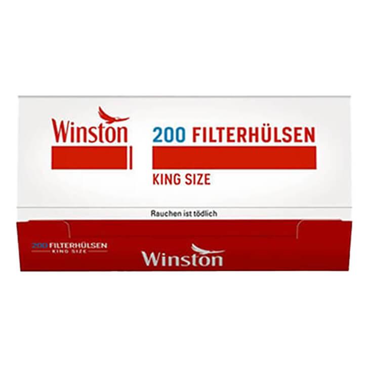 Winston Red 6 x 170g mit 2000 King Size Hülsen und USB Feuerzeug