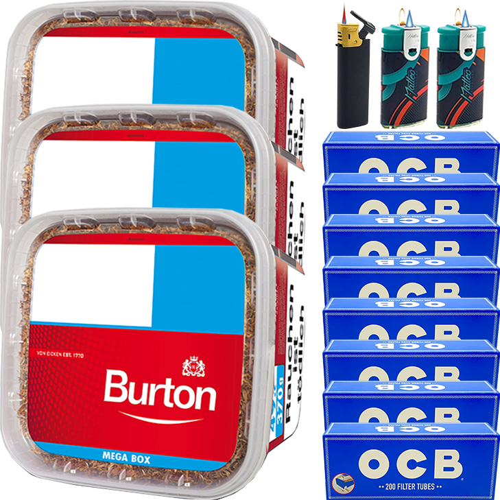 Burton 3 x 350g mit 1600 King Size Hülsen