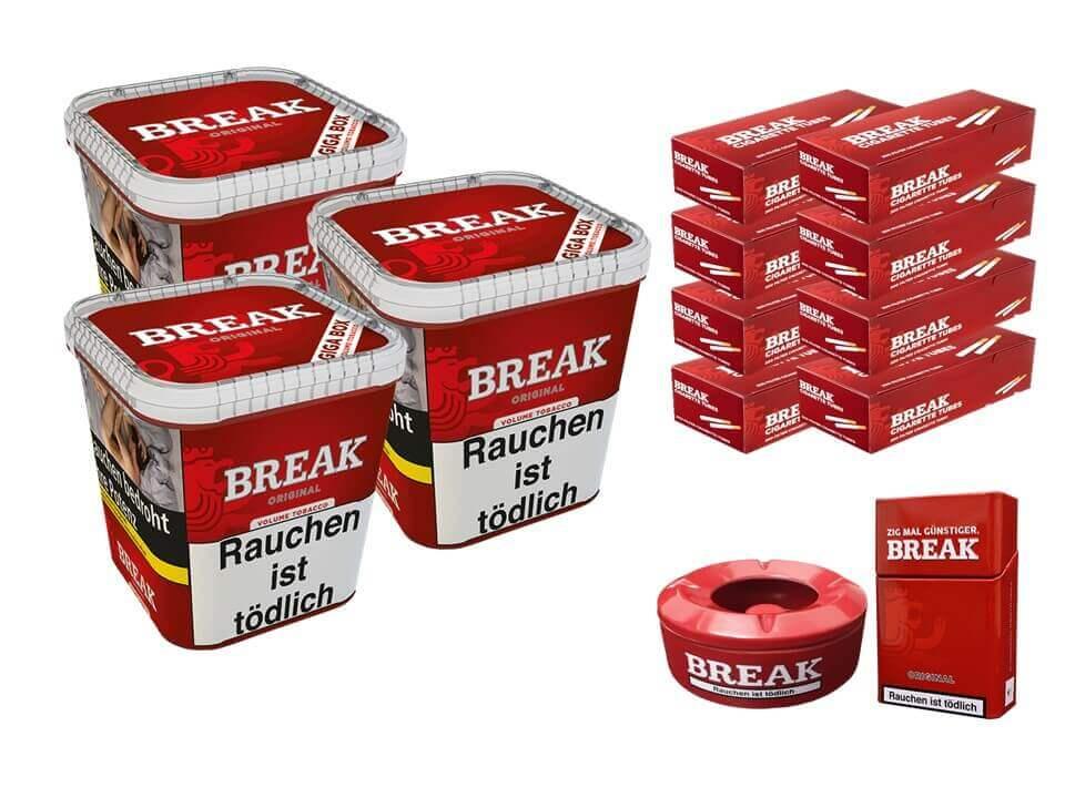 Break Original 3 x 230g Volumentabak 1600 Break Filterhülsen Uvm.