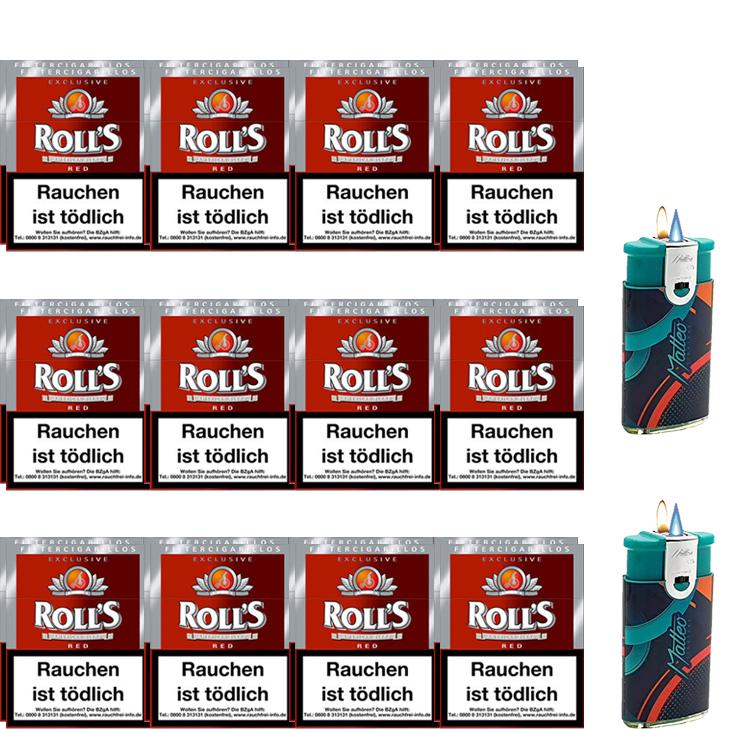 Rolls Exclusive Red Zigarillos mit Filter (3 Stangen) 24 x 23 Stück