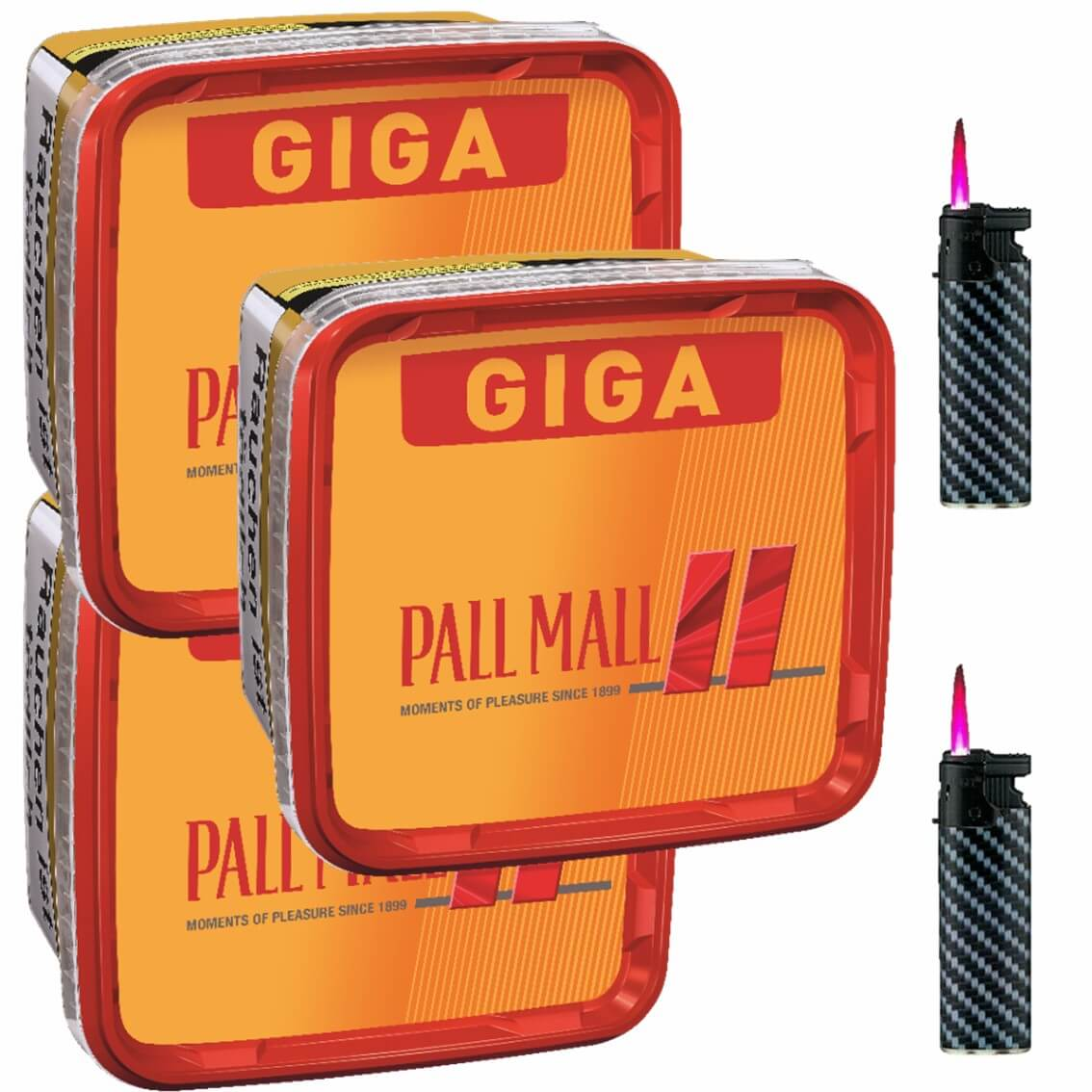 Pall Mall Giga Box 3 x 280g Volumentabak 2 x Sturmfeuerzeuge
