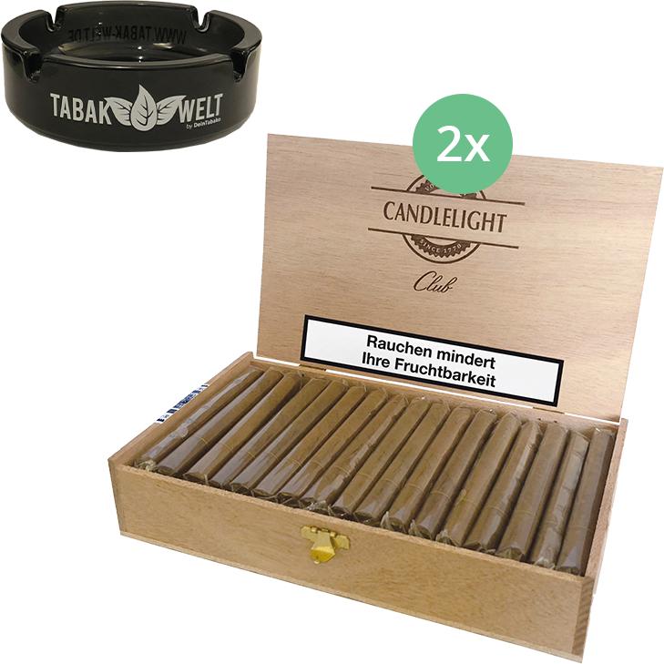 Candlelight Club Sumatra 2 x 50 Zigarren mit Aschenbecher