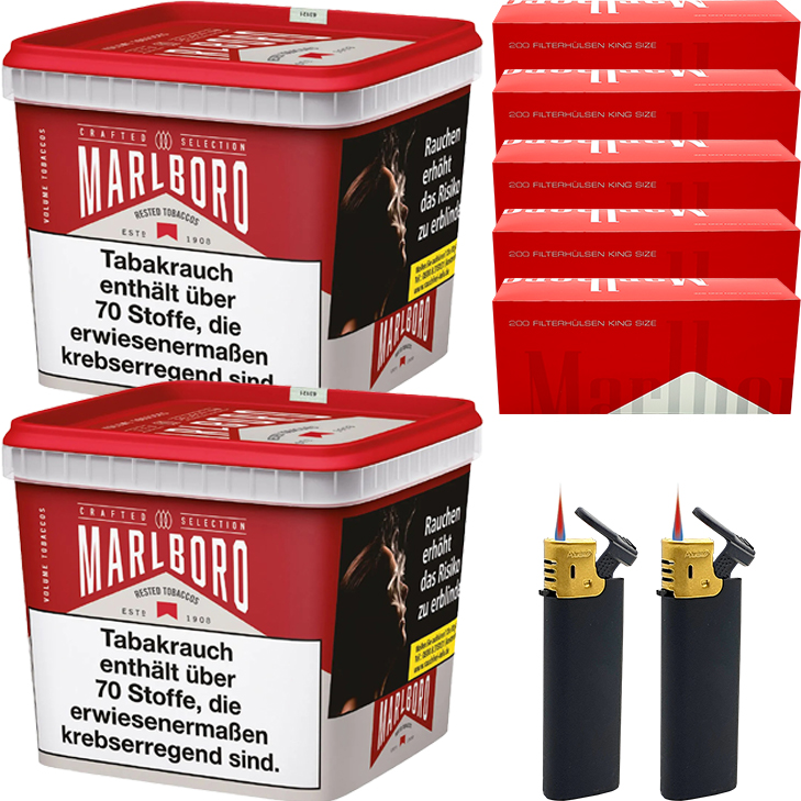 Marlboro Crafted Selection 2 x 270g mit 1000 King Size Hülsen