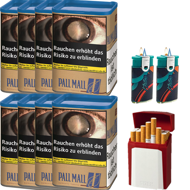 Pall Mall Authentic Blue 8 x 60g mit Etui
