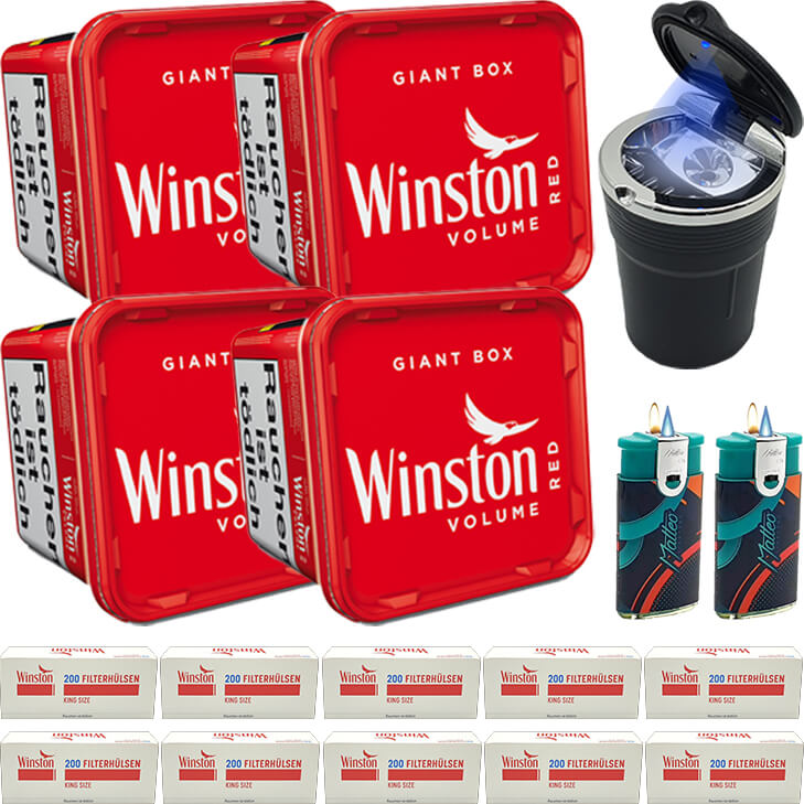 Winston Giant Box 4 x 280g mit 2000 King Size Hülsen