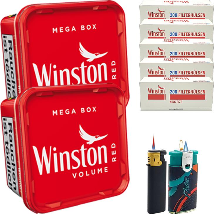 Winston Mega Box 2 x 170g mit 1000 King Size Hülsen