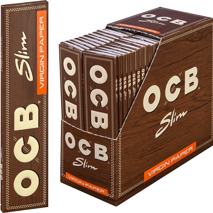 OCB Unbleached Slim Virgin 50 x 32 Blatt