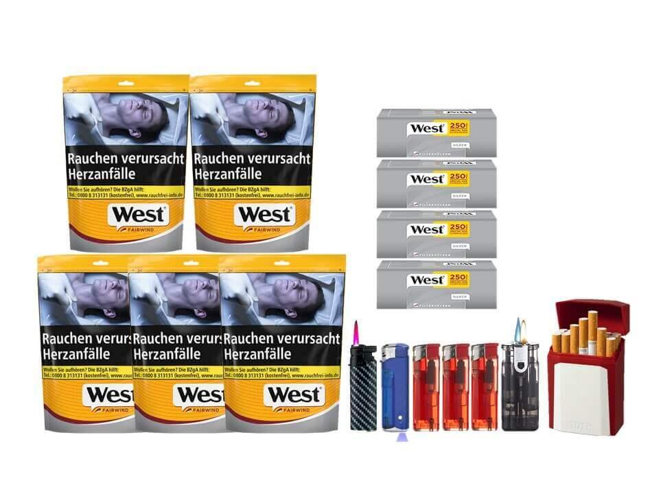 West Yellow Fairwind 5 x 121g mit 1000 Silver Extra Size Hülsen