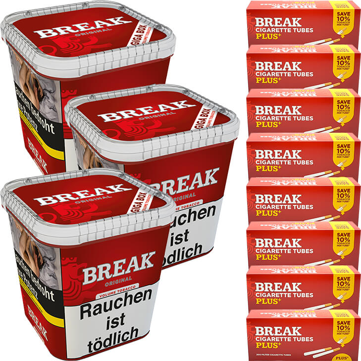 Break Original 3 x 230g mit 1600 Plus Hülsen