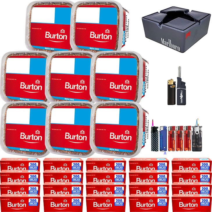 Burton 8 x 350g mit 4000 Burton King Size Hülsen