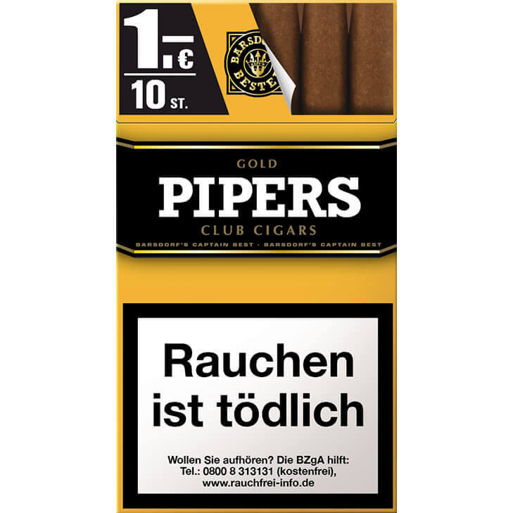 Pipers Club Vanilla / Gold 1 €