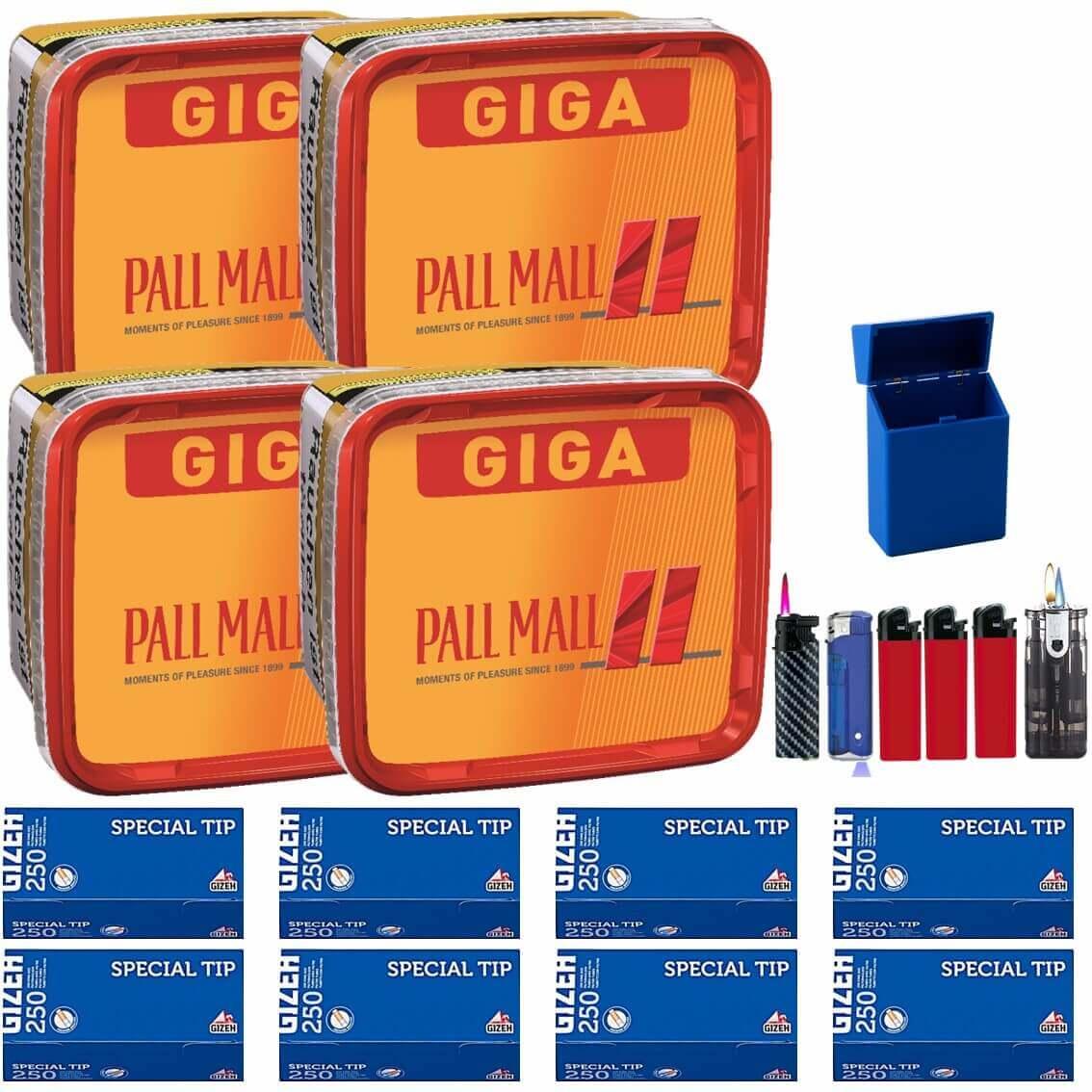 Pall Mall Giga Box 4 x 280g Volumentabak 2000 Special Size Filterhülsen Uvm.