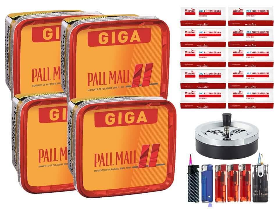 Pall Mall Giga Box 4 x 280g Volumentabak 2000 King Size Filterhülsen Uvm.
